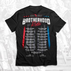 Brotherhood Ride 2019 T-Shirt Back